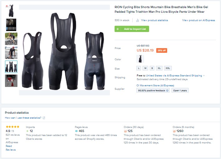 Best Shopify Product - Cycling pants